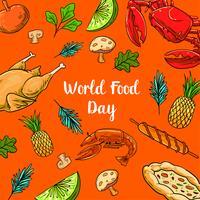 Världsmatdag med färgglada frukter