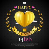 Liebes-Ballon für Valentinstag-Ereignis