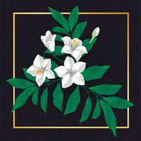 Schöne Blumenblumen-Weinlese-Vektor-Blatt-Natur