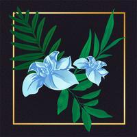 Vacker blommig vintage vektor