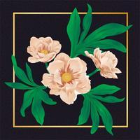 Vackra blommor för vintage blommavattenblad