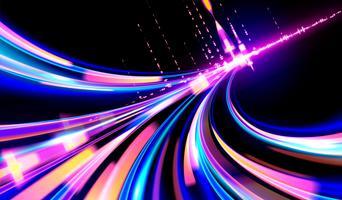 Cyberpunk-Lichtspuren