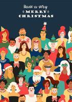 Weihnachts- und guten Rutsch ins Neue Jahr-Illustration