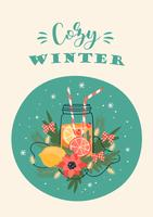 Winter in der City Card vektor