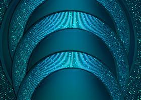 abstrakt blått papperssnitt