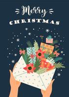 Frohe Weihnachten-Karte vektor