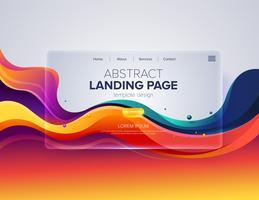 Abstrakt målsidadesign