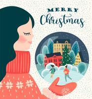 Jul och gott nytt år kort