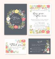 Bröllopsinbjudningar sparar datumkortdesignen med elegant trädgårdsanemon.