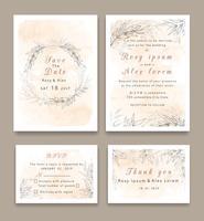 Bröllopsinbjudningar sparar datumkortdesignen med elegant trädgårdsanemone.