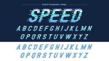Blaue Geschwindigkeits-Bewegungs-Sport-Typografie