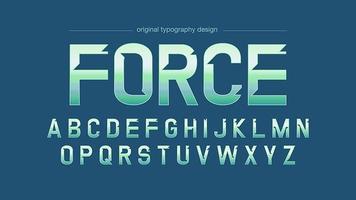 Moderne grüne Chrom-Typografie