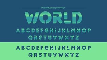 Grün Blau Chrom Sport Typografie