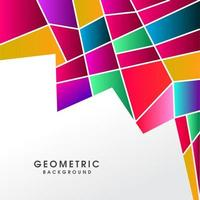 Kreativer abstrakter bunter polygonaler Hintergrund