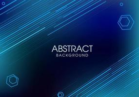 Abstrakter blauer geometrischer Hintergrund mit Linie Formen