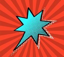 Leerer Stern der komischen Pop-Art-Art