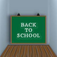 Tillbaka till skolan svarta tavlan bakgrund vektor