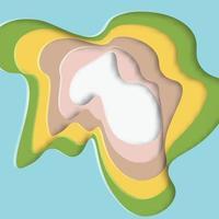 Abstrakt färgrikt snittpapper formar mönster