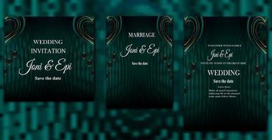 bröllopsinbjudan etikett-kort-design speciella alla hjärtans dag med realistisk kärlek