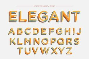 Bunte Retro mutige Typografie