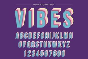 Vintage bunte angehobene Typografie
