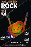Halloween-Felsen-Plakat vektor