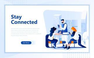 Sociala nätverk platt webbdesign