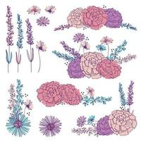 Handritade blommig element