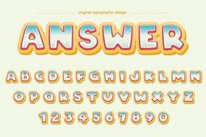 Bunte Karikatur-Luftblasen-Typografie vektor