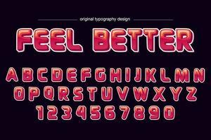 Röd komisk tecknad typografi