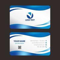 Blå vågor moderna färgglada visitkort