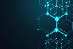 Abstrakte digitale Zeilen Hexagonhintergrund vektor