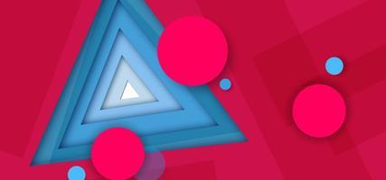 Abstrakt bakgrund för röd triangel
