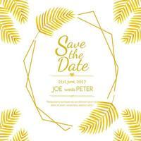 Goldene Blätter, die Einladung Wedding sind
