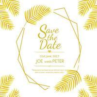 Guld- blad bröllopinbjudan