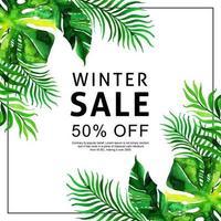 Tropisk försäljningsbakgrund för akvarell