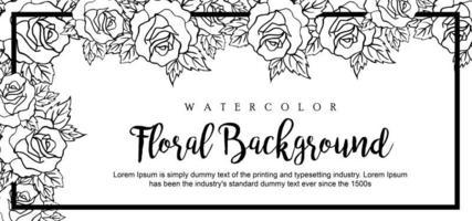 Vacker akvarell blommig bakgrund