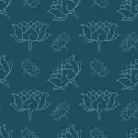 Hand gezeichnetes botanisches nahtloses Muster vektor