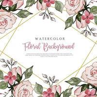 Blommig bakgrund för rosa akvarell