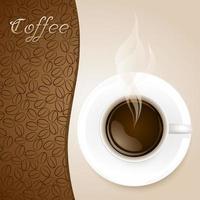 Tasse Kaffee auf Papierhintergrund