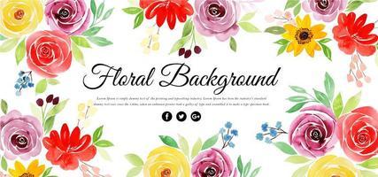 Schöner Aquarell-Blumenhintergrund