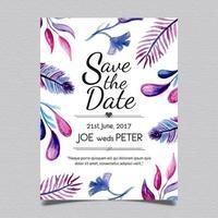 Bröllopskort blad stil
