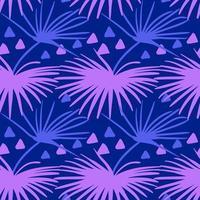 Sömlös tropisk mönster. Sommar exotiska växter prydnad