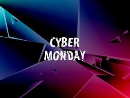 Moderne Explosion abstrakte Banner. Cyber Montag.