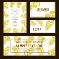 Goldenes Blatt-Briefpapier-Set