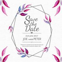 Hochzeits-Karten-Blatt-Art-Rahmen