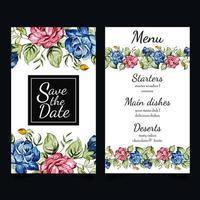 Aquarell Blumen Briefpapier Set
