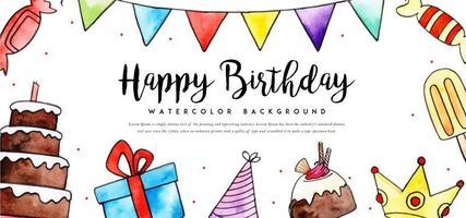 Akvarell födelsedag bakgrund