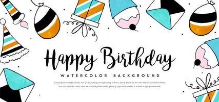 Aquarell Geburtstag Hintergrund vektor