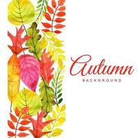 Akvarell hösten lämnar bakgrund